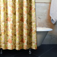 Sunset Paisley Polyster Shower Curtain