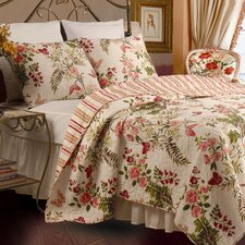 <strong>Greenland Home Fashions</strong> Butterflies Quilt Set
