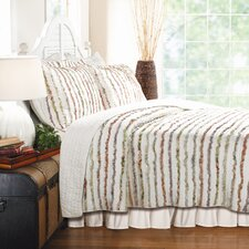 <strong>Greenland Home Fashions</strong> Bella Ruffle Quilt Set