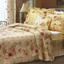 <strong>Greenland Home Fashions</strong> Antique Rose Bonus Quilt Set