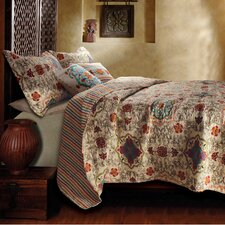 <strong>Greenland Home Fashions</strong> Esprit Spice 5 Piece Bonus Quilt Set