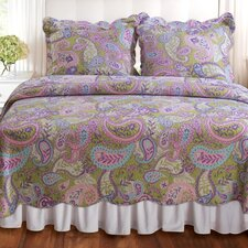 <strong>Greenland Home Fashions</strong> Portia Paisley Mini Quilt Set