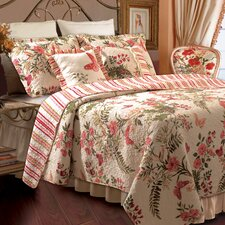 <strong>Greenland Home Fashions</strong> Butterflies Bonus Quilt Set