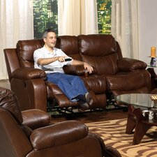 Dallas Leather Reclining Loveseat