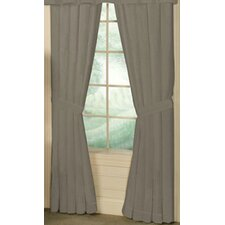 Cotton Window Tab Top Curtain Panel (Set of 2)