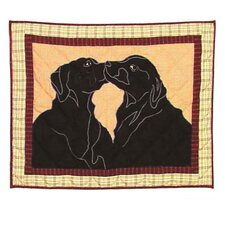 Black Lab Pillow Sham