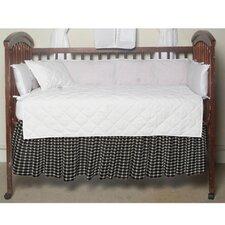 Cream and White Gingham Checks Fabric Crib Dust Ruffle