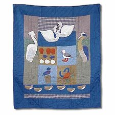 Beach Critters Cotton Throw Quilt