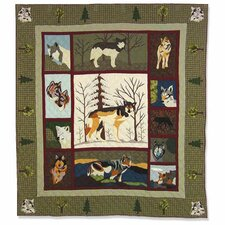 Call of The Wild Cotton Throw Quilt
