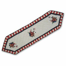 Colonial Santa Table Runner