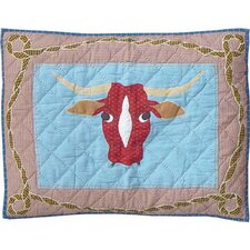Cowboy Long Horn Standard Pillow Sham