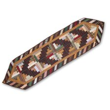 Dusty Diamond Log Cabin Table Runner