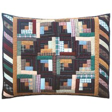 Dusty Diamond Log Cabin Pillow Sham