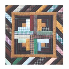 Dusty Diamond Log Cabin Toss Pillow