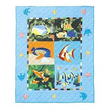 <strong>Patch Magic</strong> Ocean Schools Cotton Throw Quilt