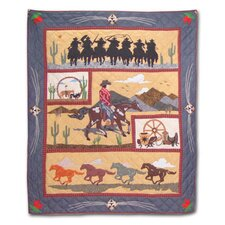 Shadow Rider Cotton Throw Quilt