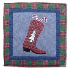Western Santa Boot Toss Pillow