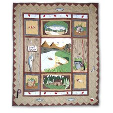 <strong>Patch Magic</strong> Gone Fishing Cotton Throw Quilt