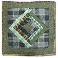 Log Cabin Toss Pillow