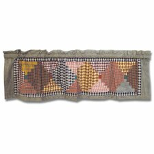 Harvest Log Cabin Cotton Curtain Valance