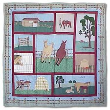 Horse Cotton Shower Curtain