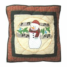 Jolly Snowmen Toss Pillow