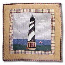 Lighthouse by Bay Toss Pillow