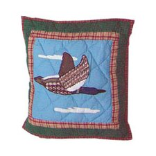 Loon Flying Geese Toss Pillow