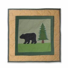 <strong>Patch Magic</strong> Lodge Fever Bear Toss Pillow