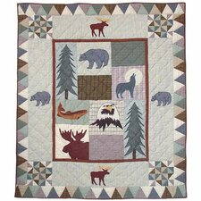Mountain Whispers Cotton Throw Quilt