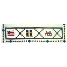 "Sampler 54"" Curtain Valance"