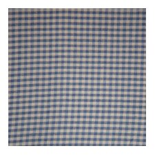 Blue and Ecru Gingham Checks Curtain Single Panel