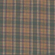 Green Gold Plaid Cotton Curtain Panel (Set of 2)