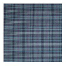 Navy and Light Blue Plaid Bed Skirt / Dust Ruffle