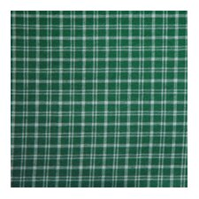 Green and White Plaid Pillow Sham