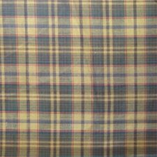 Golden Brown Plaid Cotton Bed Curtain Single Panel