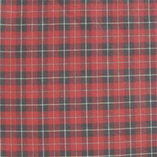 Red and Black Plaid White Lines Napkin (Set of 4)
