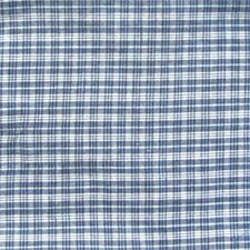 Blue and White Plaid Cotton Curtain Panel (Set of 2)
