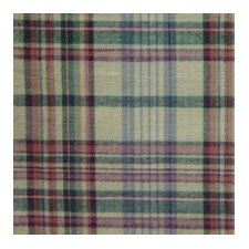Cream Plaid Cotton Curtain Panel (Set of 2)