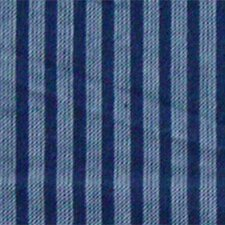 <strong>Patch Magic</strong> Blue and Horizontal White Stripes Toss Pillow