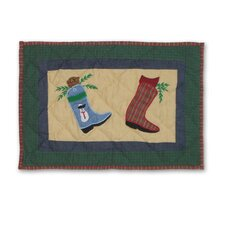 Western Santa Boot Placemat (Set of 4)