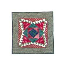 Yuletide Stars Toss Pillow