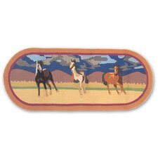 Wild Horses Three Horses Kids Rug