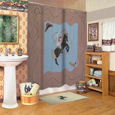 <strong>Patch Magic</strong> Cowboy Cotton Shower Curtain