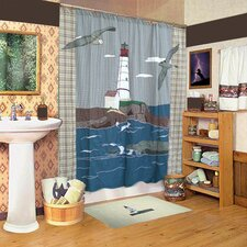 Lighthouse By Bay Cotton Shower Curtain