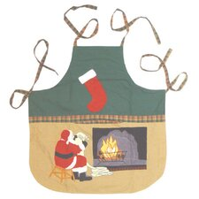 Santa By The Fireside Apron