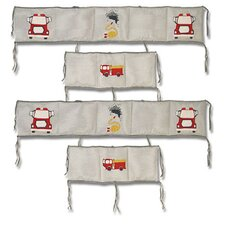 Fire Truck 4 Piece Bumper Pad Set