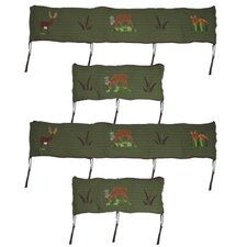 Whitetails Grove 4 Piece Bumper Pad Set