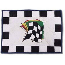 Racecar Cotton Crib Toss Pillow