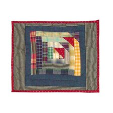 <strong>Patch Magic</strong> Wild Goose Log Cabin Cotton Crib Toss Pillow